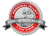 Attorney and Practice Magazine's Top 10 Personal Injury Law Firm